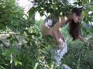 Public park panties wetting caught on livecam
