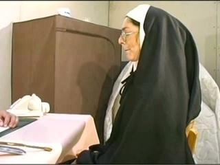Naugthy nun gets her holes tucked hardcore
