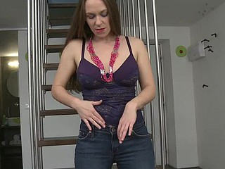 Remarkable bushy mother I'd like to fuck Erin likes to pet herself in unusual places. Stairway in her house shows up to be flawless for this so this stunner slowly starts undressing and squeezing her priceless milk wiggles whilst setting 'em loose.