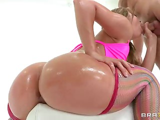 Kristina Rose with wet large ass gets analyzed