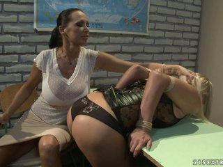 Mandy Alight and Tara Pink nasty teacher and pupil