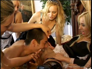 Aiden Star with an increment of hottie maid got their g-spot tickled
