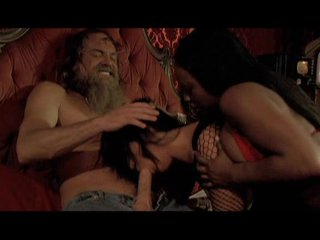 Jada Fire and Sandra Romain having oral joy with a lucky hippie