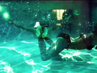 Cock-Bursting Underwater Take Of Keira Knightley Swimming In a Swimsuit
