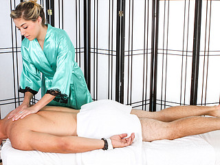 Lia Pleases Josh Rivers With Woman's Touch Erotic Rubdown