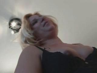 Chubby French blonde goes down on high his cock and erratically rides rosiness