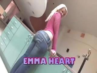 Wonderful Booty Blonde Emma Heart Gets Fucked Rigid Up Her Giant Curvy Ass