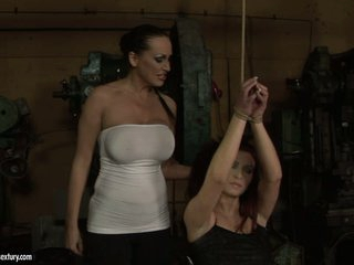 Mandy Bright hawt hussy tie the hand of lusty chick