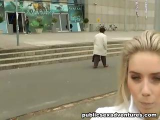 Extreme sex outdoors with adorable blonde