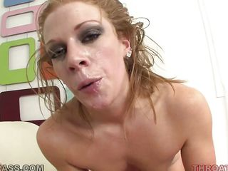 sexy tramp getting a penis in her mouth