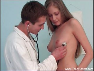 dr. rod checks his teen pacient