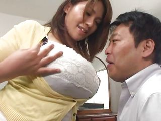 Busty Mizumi loves to acquire her big soft boobs licked by her guy. She's getting horny from all that nipple sucking and decides that it's her time to suck! Mizumi opens her mouth and starts to suck her man's knob real slow and gently, she even licks his ass hole!