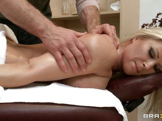 hawt blond getting her a-hole massaged