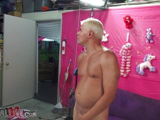 giant boobs milky white blond gives head