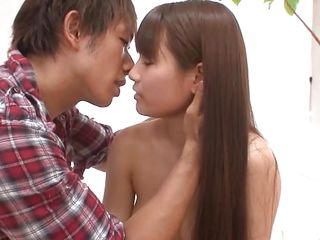 asian brunette babe is with regard nearby to be fucked hard