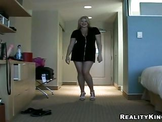 Aimeelynn is a fucking hawt milf. She is a little obese but when you will watch her worthwhile and big milk cans with hard teats you will definitely want to drill her. This doxy is stripping and making her attractive body visible to us. After pussy rubbing that babe is inserting a huge dildo in her shaved pussy.