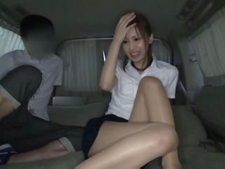 Enjoy watching Yuu Matsuoka, a pretty asian floozy that can't live without sucking a shaggy dick. Her hot legs, pretty face, and pink juicy lips give this dude an erection so that babe takes care of it with a lustful blowjob. She looks hot in that white shirt and short skirt but what we indeed want to see is under it.