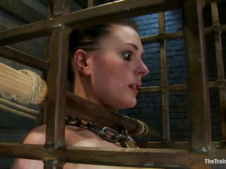 cutie in a cage needs her torture
