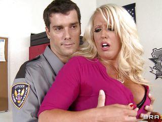 milf far big boobs got busted