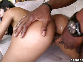 rose gets her taut pussy stuffed with black meat