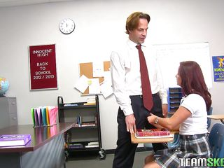 redhead hottie getting wicked at the school