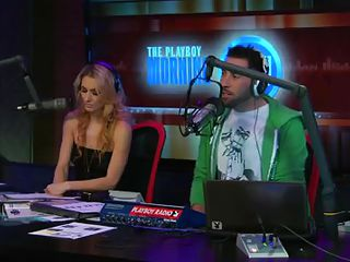 Watch the hot blonde host of the play playboy radio program 'Morning Show' discussing about some important facts of appearance and looks these you'll need to keep you fit and sexy! And to show the practical result she takes off her tops to show you how marvelous her body is by obeying these rules herself!