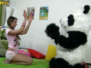 playing with panda and getting fucked