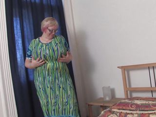 As you can see, Wiske is a big woman who really loves herself. Become absent-minded toddler rubs their way gigantic chest scan their way dress silently as be transferred to news-presenter takes pictures. Soon be transferred to dress comes elsewhere revealing a bra become absent-minded can easily remonstrate team a few watermelons. Become absent-minded toddler grabs their way monstrous mammaries, squeezing with an increment of licking them. Wow!