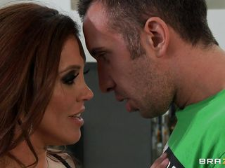 Francesca Le is one real hawt milf. And when that babe is on her nightie and stockings, no one is so hawt as this horny bitch! Now, early morning, our lady is in a mood to hook a cock. And that babe call for a repair man. And here comes the young cock Keiran Lee. Seeing the hawt mistress Keiran was quite aroused and amused. And when that babe took out her large boobs and took Keiran's dick in her mouth, that just made his day!