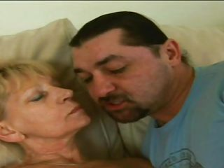 blonde granny engulfing a very big cock