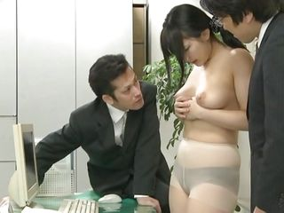 Did Megumi ever think that this could happen to her at the office? This playgirl trusted her coworkers but they had a plan with her hawt ass from the beginning. Now the Nippon playgirl is in big trouble and that babe knows it. At first that babe is asked to undress and then bend over, showing her holes. Then that babe gets fucked.