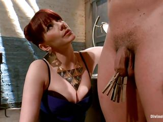 redhead mistresse exploits her muscled dude