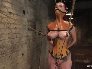 That babe was a very bad milf, this babe dominated and fucked a lot of girls and now it's time for her to be disciplined. Her pussy is starting to get really juicy because the brunette mistress tied her, added clamps on her nipples and pulled 'em hard. That babe is immobilized and now has to suffer until this babe will become an yielding slut.
