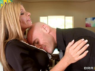 scalding milf blonde kristal summers is maid's uniform