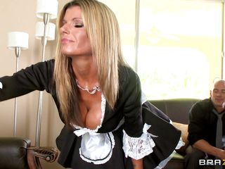 sexually excited milf blonde kristal summers is maid's uniform