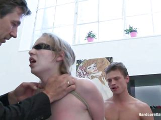 Marry dream is hawt blond chick who just got screwed by a gang of five slutty men. Steve Holmes, Markus Dupree, Omar Galanti, Dorian & Rokki are gathered with their hard cocks and ready to fuck the hell out of this bitch. She got tied, throat fucked, a-hole drilled & pussy pounded! Who knows what'll happen next!