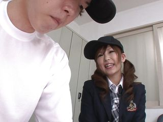 oriental school girl loves to lick