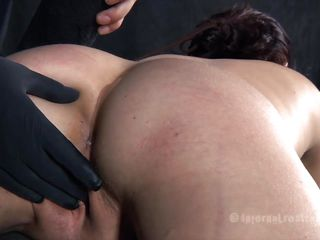 Katarine is at the mercy of her executor and too bad for because he has none. Her self esteem was broken and now is time for her beautiful ass. That guy uses a of lube and a couple of gloves to finger that tight anus and then insert a metal hook with a chain. Her gorgeous arse merits solely the roughest treatments!