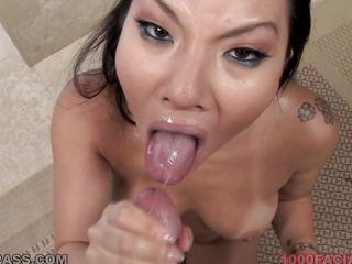 asian chick receives full load