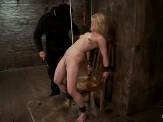 whipping a anorectic spoil with laundry pliers on the brush teats