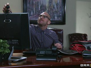 johny sins spying on his bosses tight vagina