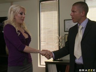 hot blonde fucks for a recent job