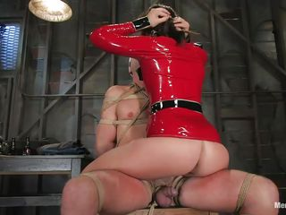 mistress dominating her guy and torturing his cock