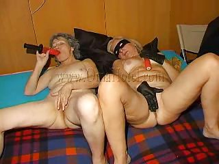 Hot grannies begin masturbating with those big red dildos and when they are willing they form a worthwhile 69. Those old, saggy and wrinkled harlots are fucking wildly and lick their shaved cunts with desire. Are those strumpets going to do more then a 69? And if so, what are they up to? Let's stay with 'em and discover out!