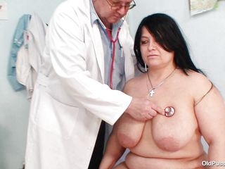 busty brunette receives hollow by doctor