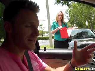 Danielle X is a sexy golden-haired milf who just got marked by the milf hunters! She was trapped in a quiet road as her car stopped and that guy came to aid her. He tried to aid her but in exchange that guy wanted to bang her. He was trying to talk her into it. Let's see what happened!