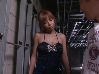 This man was taking a piss and sexy Sumire was just staying there, bored and with a small in number extra drinks. All she could think was how to get fucked and after the man finished pissing she took his dong in her slutty mouth. Just like a cheap club whore Sumire sucked and drank his cock, did she received some semen too?