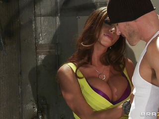 The Colombian horny lady, Ariella Ferrera was alone with Johnny Sins. And together they are having a wild make out! Johnny was obsessed with Ariella's big boobs and keep giving a kiss and engulfing and squeezing those soft buns! That turned Ariella on and she grabbed his pants to take out the cock!
