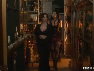 Look at those two hot gothic women dressed all black. One of them gets naked and gulp a potion that makes her a man and gets his huge cock sucked by the other hot babe. Look how much this babe enjoys engulfing that massive cock and how horny this babe gets. Is this babe going to acquire drilled hard in her tight cunt?