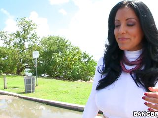 top-heavy latina milf deepthroats a dick!